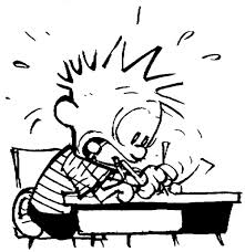 Calvin writing.
